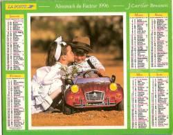 Calendrier - Almanach Du Facteur 1996 - PTT - Voiture Enfant CITROEN 2CV CHARLESTON - J CARTIER BRESSON - Grand Format : 1991-00
