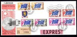 B87 - Y&T N° ??? - 5ème Anniversaire Du Timbre De Service - 14 Janv 1963 - France Conseil De L'Europe - Briefe U. Dokumente