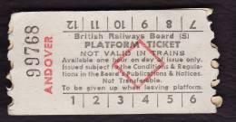 Railway Platform Ticket ANDOVER BRB(S) Red Diamond AA - Railway