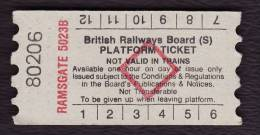 Railway Platform Ticket RAMSGATE 5023B BRB(S) Red Diamond AA - Railway