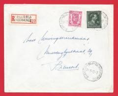 N° 696 +713 / Lettre Recommandée De ST Gillis Dendermonde 24 3 49 - 1936-1957 Open Kraag