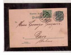 DE218  -   GERMANIA STORIA POSTALE   -   POSTKARTE       HALLE/BARI        12.7.1893 - Allemagne