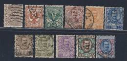 Floreale - 1901 - Serie Completa Di 11 Valori (Sassone 68/78) - 1900-44 Vittorio Emanuele III