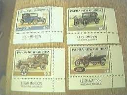 Set Of 4 Unused Stamps - Papua New Guinea - Vintage Cars - Papua New Guinea