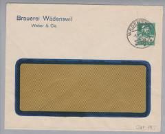 Motiv Bier Brauerei Wädenswil 1930-12-09 Privatganzsache 10Rp.Tellbrust - Bières