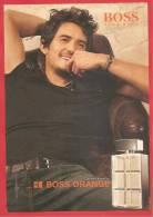 BOSS ORANGE - Di HUGO BOSS  POUR HOMME With ORLANDO BLOOM - CARTOLINA PROFUMATA - PREMIERE CARD - PROMOCARD PARFUM - Profumeria Moderna (a Partire Dal 1961)