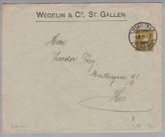 Motiv Geld Bank Wegelin & Co. St.Gallen Privatganzsache 2Rp.Tellknabe 1911-02-01 - Timbres