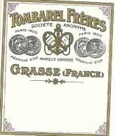 Etiquette Parfum Réf.004. Tombarel Frères - Grasse - Etiquettes