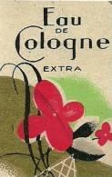 Etiquette Parfum Réf.018. Eau De Cologne Extra - Etiquettes