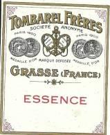 Etiquette Réf.026. Tombarel Frères - Essence - Grasse - Etiquettes