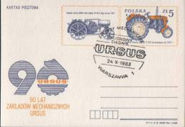 Poland Pologne, Ursus Factory, Polish Producer Of Agricultural Machinery, Tractor, Agriculture. Warsaw 1983. - Verkehr & Transport