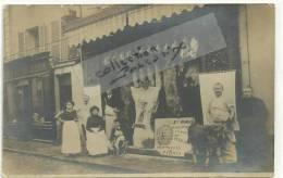 CPA Boucherie Walton 24 Rue De L'église Montreuil Sous Bois, Scène Animée, âne, Vers 1900/1910 - Montreuil