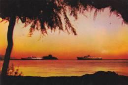 Turkey Kusadasi Sunset In The Horizon