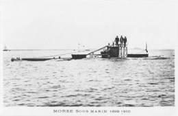 Sous-marin MORSE (Marine Nationale) - Carte Photo éd. Marius Bar - Bateau/ship/schiff - Guerre