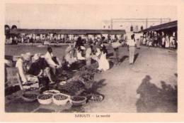 Cartolina Djibouti - Gibuti. Le Marchè Anni´30 - Gibuti