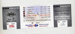 Billet Entree Match Football Americain France Thonon  Pioners - Autres