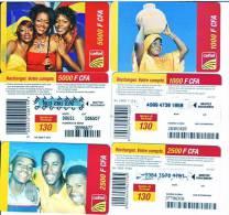 Télécarte  Lot GABON 5000+2500+1000F CFA   Vide  état BE**** - Gabon