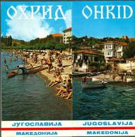 Old Tourist  Depliant Ohrid Macedonia Makedonija  Turismo  Turistico Many Pictures - Publicités