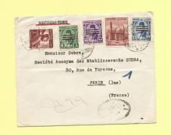 Lettre Recommandee D´Alexandrie Egypte Pour Paris - Briefe U. Dokumente