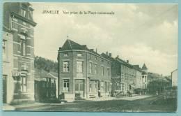 """Jemelle - Vue Prise De La Place """" Voyagé Feldpost  Sans Obl. - Rochefort"""