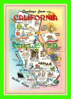 MAPS - GREATINGS FROM CALIFORNIA - GLODEN STATE OF 1970 - HI-LITE CARD - - Cartes Géographiques