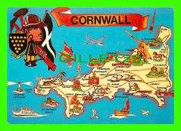 MAPS - CORNWALL, SOUTH WEST ENGLAND - - Cartes Géographiques