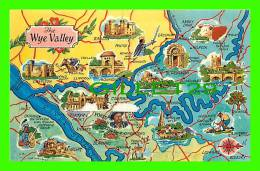 MAPS - THE WYE VALLEY - BETWING WALES & ENGLAND - - Cartes Géographiques