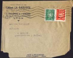 1944  Lettre De Lyon Pour Ecully  Pétain Yv 511, 513 - France