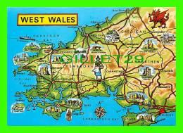 MAPS - WEST WALES - WRITTEN - CARTE GÉOGRAPHIQUE - - Cartes Géographiques