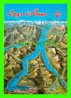 MAPS -LAGO DI COMO, LOMBARDY, ITALIA - CARTE GÉOGRAPHIQUE - - Cartes Géographiques