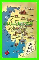 MAPS -  THE LAKE DISTRICT, NORTH WEST, ENGLAND - CARTE GÉOGRAPHIQUE - - Cartes Géographiques