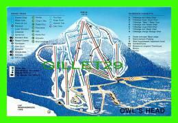 MAPS - OWL'S HEAD, MANSONVILLE, QUEBEC  - CARTE GÉOGRAPHIQUE -  WINTER SKI SLOAPS - - Cartes Géographiques
