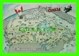 MAPS - CANADA  - CARTE GÉOGRAPHIQUE - PHOTO, J. LEMIEUX - - Cartes Géographiques
