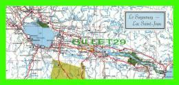 MAPS - LE SAGUENAY, LAC SAINT-JEAN  EN 1989 - CARTE GÉOGRAPHIQUE -  DIMENSION 10 X 23 Cm - - Cartes Géographiques