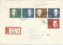 1959 Blockausschnitt Beethovenblock Auf Brief - [7] République Fédérale