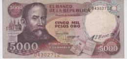 Colombia , 5000 Pesos , 1986 , (VF). - Colombia