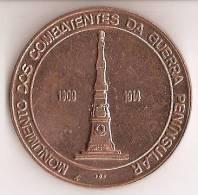 Medalha Da 1ª Feira Numismática De Arrifana Em 1973 - Monumento Dos Combatentes Da Guerra Peninsular. Aveiro. - Other