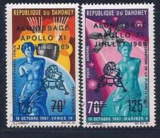 Benin(Dahomey), Scott # C103-4 Used Venus Exploration, Surcharged, 1969 - Bénin – Dahomey (1960-...)