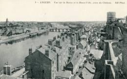Angers Vue Générale Prise Du Chateau Et Sur La Maine Et La Basse Ville - Angers