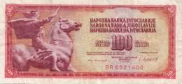 Billets -  B735 - Yougoslavie - Billet 100  Dinars ( Type, Nature, Valeur, état... Voir 2 Scans) - Yugoslavia