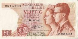 Billets -  B752 - Belgique  - Billet  50 Frank  ( Type, Nature, Valeur, état... Voir 2 Scans) - [ 2] 1831-... : Koninkrijk België
