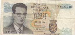 Billets -  B753 - Belgique  - Billet  20 Francs  ( Type, Nature, Valeur, état... Voir 2 Scans) - Zonder Classificatie