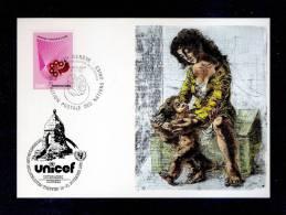 UNICEF UNO  GENEVE 19/11/82 THE KIND IN THE PICTURE (HANS ERNI) EXPO UNTERAEGERI  83 - UNICEF