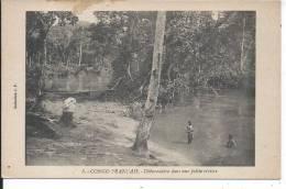 CONGO FRANCAIS - Débarcadère Dans Une Petite Rivière - Congo Français - Autres