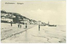 CARTOLINA   - SALUTI DALLA RIDENTE SPIAGGIA DI GROTTAMMARE - ANIMATA  - VIAGGIATA NEL 1911 - Ascoli Piceno