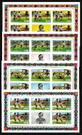 Ghana: 'Fussball, 1974' / 'football - Soccer', Mi. 581-584 B KB; Yv. 528-531 ND; Sc. 525-528 Imperf. ** - Fußball-Weltmeisterschaft