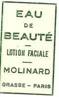 Etiquette Réf.033. Eau De Beauté, Lotion Faciale - Grasse, Paris - Etiquettes