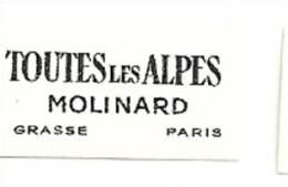 Etiquette Parfum Réf.038. Toutes Les Alpes - Molinard - Grasse, PAris - Etiquettes
