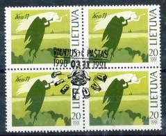 Litauen    Mi.Nr.   471     Erstagstempel    4er Block - Litauen