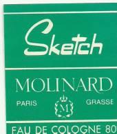 Etiquette Parfum Réf.047. Sketch, Eau De Cologne - Molinard - Grasse, Paris - Etiquettes
